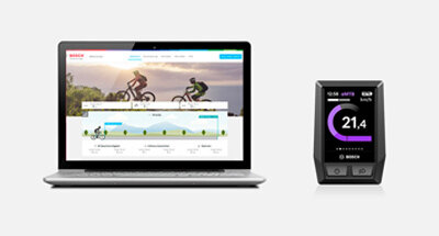 Registration in the eBike Connect portal with your PC or laptop